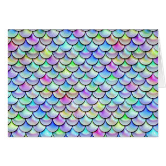 Falln Rainbow Bubble Mermaid Scales Card