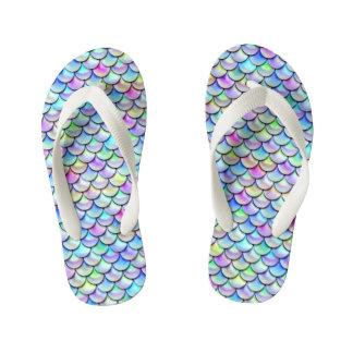 Falln Rainbow Bubble Mermaid Scales Kid's Thongs