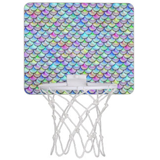 Falln Rainbow Bubble Mermaid Scales Mini Basketball Hoop