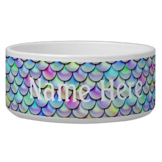 Falln Rainbow Bubble Mermaid Scales Pet Water Bowl