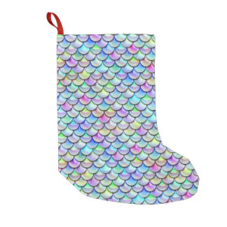 Falln Rainbow Bubble Mermaid Scales Small Christmas Stocking