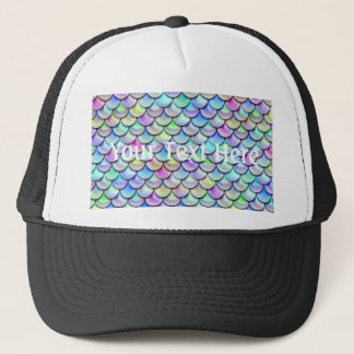 Falln Rainbow Bubble Mermaid Scales Trucker Hat