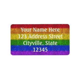 Falln Rainbow Glitter Gradient Label