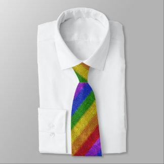 Falln Rainbow Glitter Gradient Tie