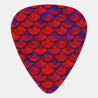 Falln Red and Purple Scales Plectrum