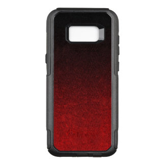Falln Red & Black Glitter Gradient OtterBox Commuter Samsung Galaxy S8+ Case
