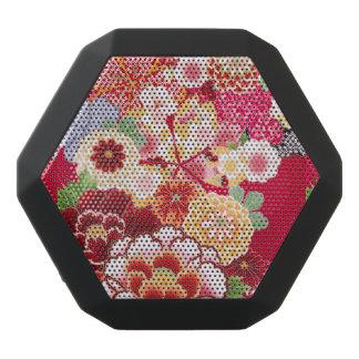 Falln Red Floral Burst Black Bluetooth Speaker