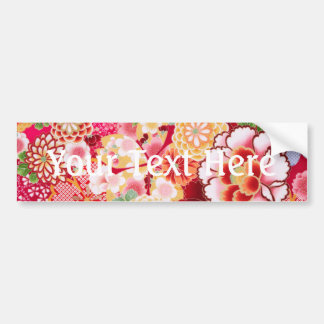 Falln Red Floral Burst Bumper Sticker