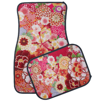 Falln Red Floral Burst Car Mat