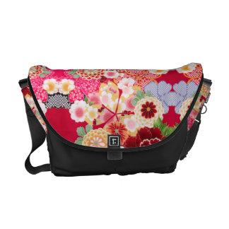 Falln Red Floral Burst Commuter Bag