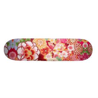 Falln Red Floral Burst Custom Skateboard