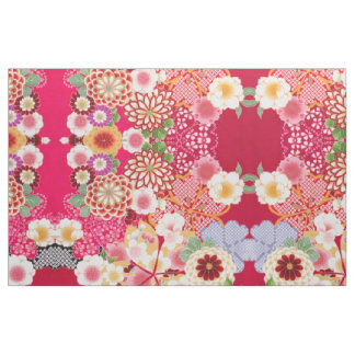Falln Red Floral Burst Fabric