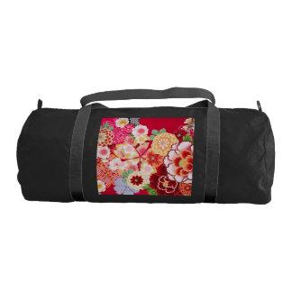 Falln Red Floral Burst Gym Bag