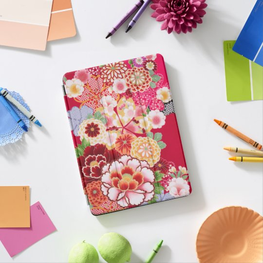 Falln Red Floral Burst iPad Pro Cover