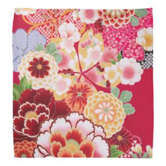 Falln Red Floral Burst Kerchief