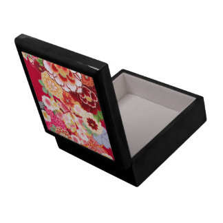 Falln Red Floral Burst Large Square Gift Box