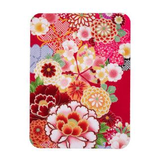 Falln Red Floral Burst Magnet