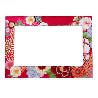 Falln Red Floral Burst Magnetic Picture Frame