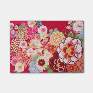 Falln Red Floral Burst Post-it Notes