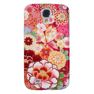 Falln Red Floral Burst Samsung Galaxy S4 Cover
