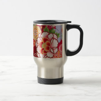 Falln Red Floral Burst Travel Mug