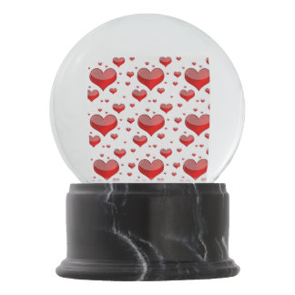 Falln Red Hearts (You Choose Background Color!) Snow Globes