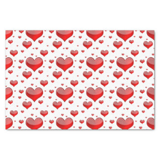 Falln Red Hearts (You Choose Background Colour!) Tissue Paper