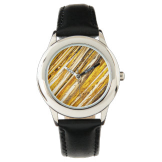 Falln Shimmering Gold Foil Wrist Watches