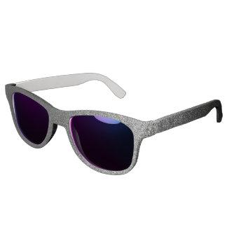 Falln Silver & Black Glitter Gradient Sunglasses
