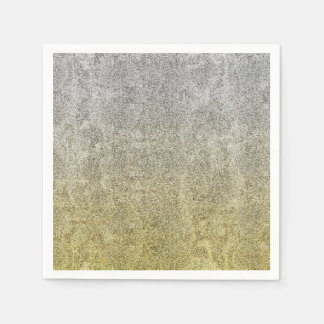 Falln Silver & Gold Glitter Gradient Disposable Napkin