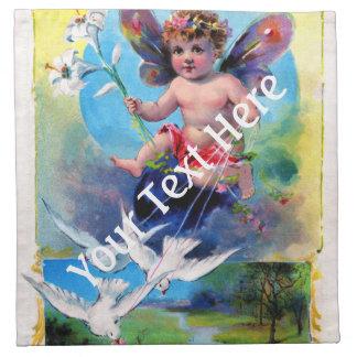 Falln Spring Time Fairy Napkin