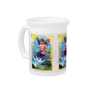 Falln Spring Time Fairy Pitcher