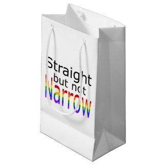 Falln Straight But Not Narrow (black text) Small Gift Bag