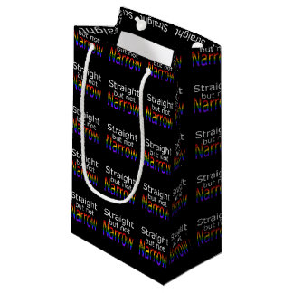 Falln Straight But Not Narrow (white text) Small Gift Bag