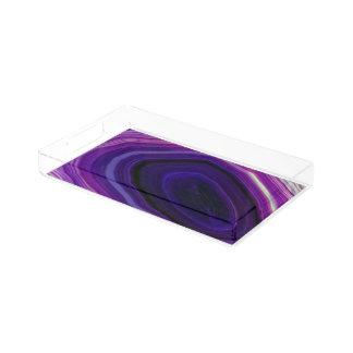 Falln Swirled Purple Geode Acrylic Tray