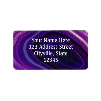 Falln Swirled Purple Geode Address Label
