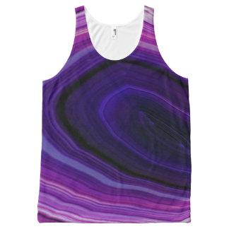 Falln Swirled Purple Geode All-Over Print Singlet