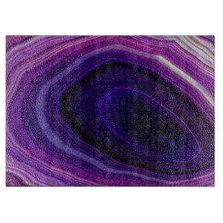 Falln Swirled Purple Geode Cutting Board