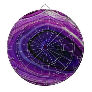 Falln Swirled Purple Geode Dartboard