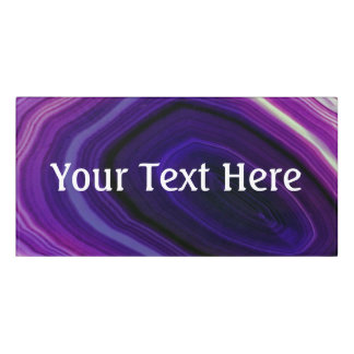 Falln Swirled Purple Geode Door Sign