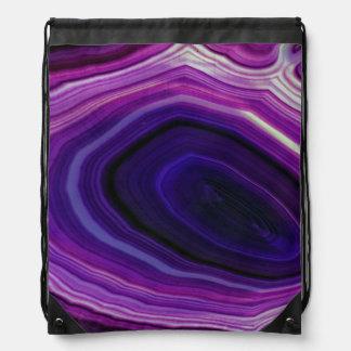 Falln Swirled Purple Geode Drawstring Bag