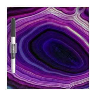 Falln Swirled Purple Geode Dry Erase Board