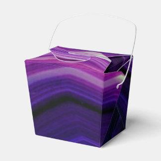 Falln Swirled Purple Geode Favour Box