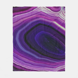 Falln Swirled Purple Geode Fleece Blanket