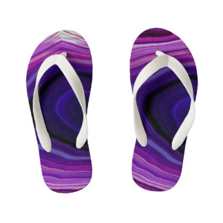 Falln Swirled Purple Geode Kid's Thongs