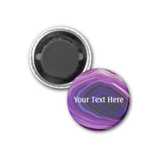 Falln Swirled Purple Geode Magnet