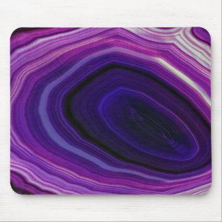 Falln Swirled Purple Geode Mouse Pad