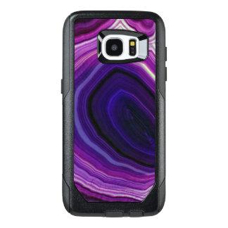 Falln Swirled Purple Geode OtterBox Samsung Galaxy S7 Edge Case