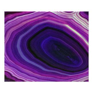 Falln Swirled Purple Geode Photo Print
