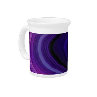 Falln Swirled Purple Geode Pitcher